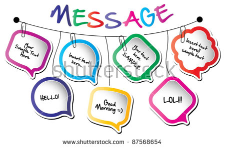 Back to school message clipart png download Back School Conceptwall Hanging Message Bubbles Stock Vector ... png download