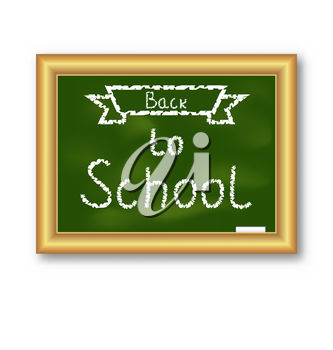 Back to school message clipart graphic stock Clipart Illustration of a Back to School Message graphic stock