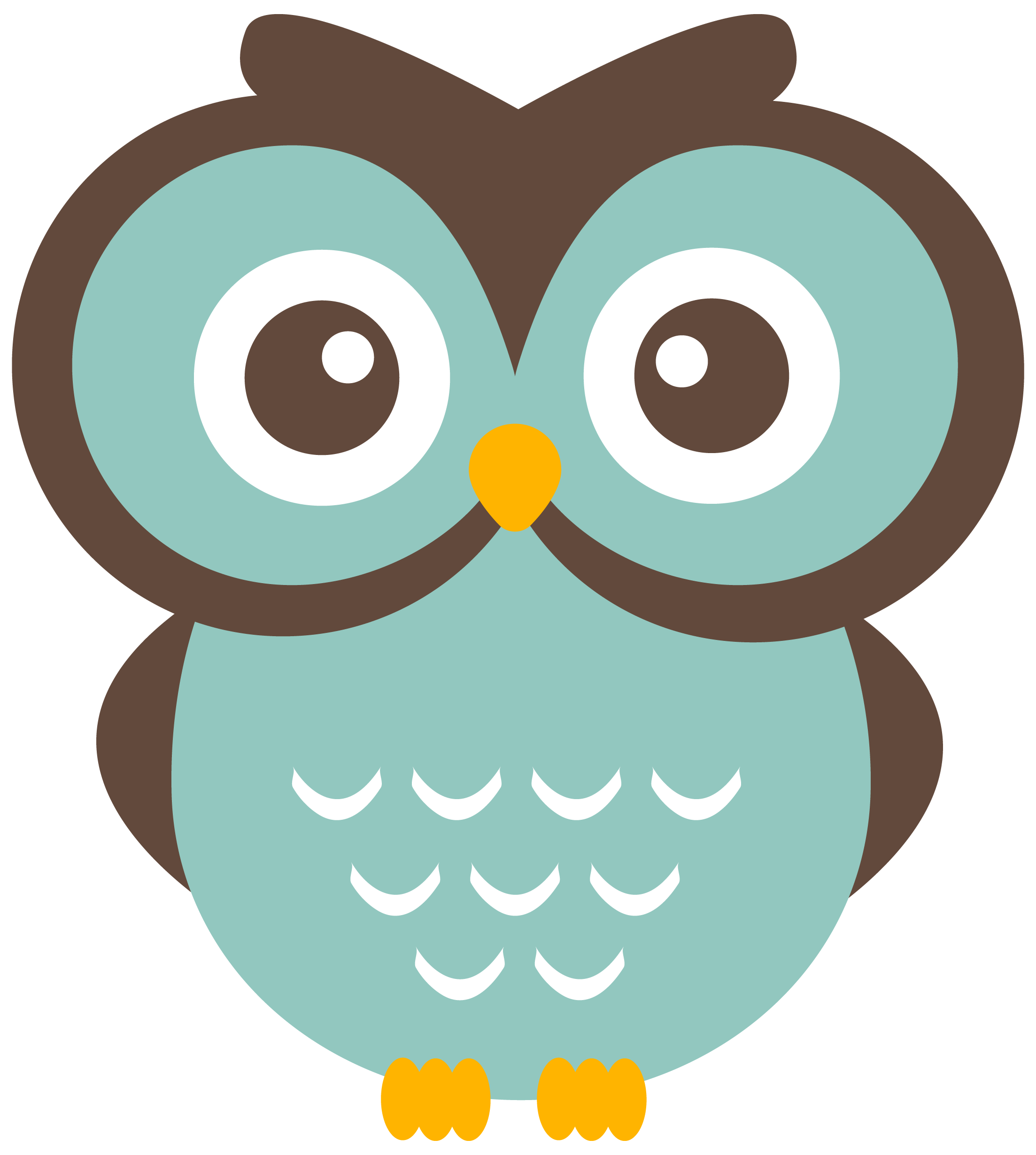 Owl heart clipart clipart royalty free library Teal Owl Clipart (free download to use) | Graphics: Flat, Halftone ... clipart royalty free library