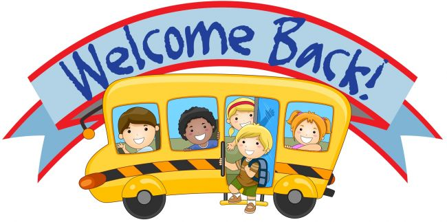 Welcome back to kindergarten clipart