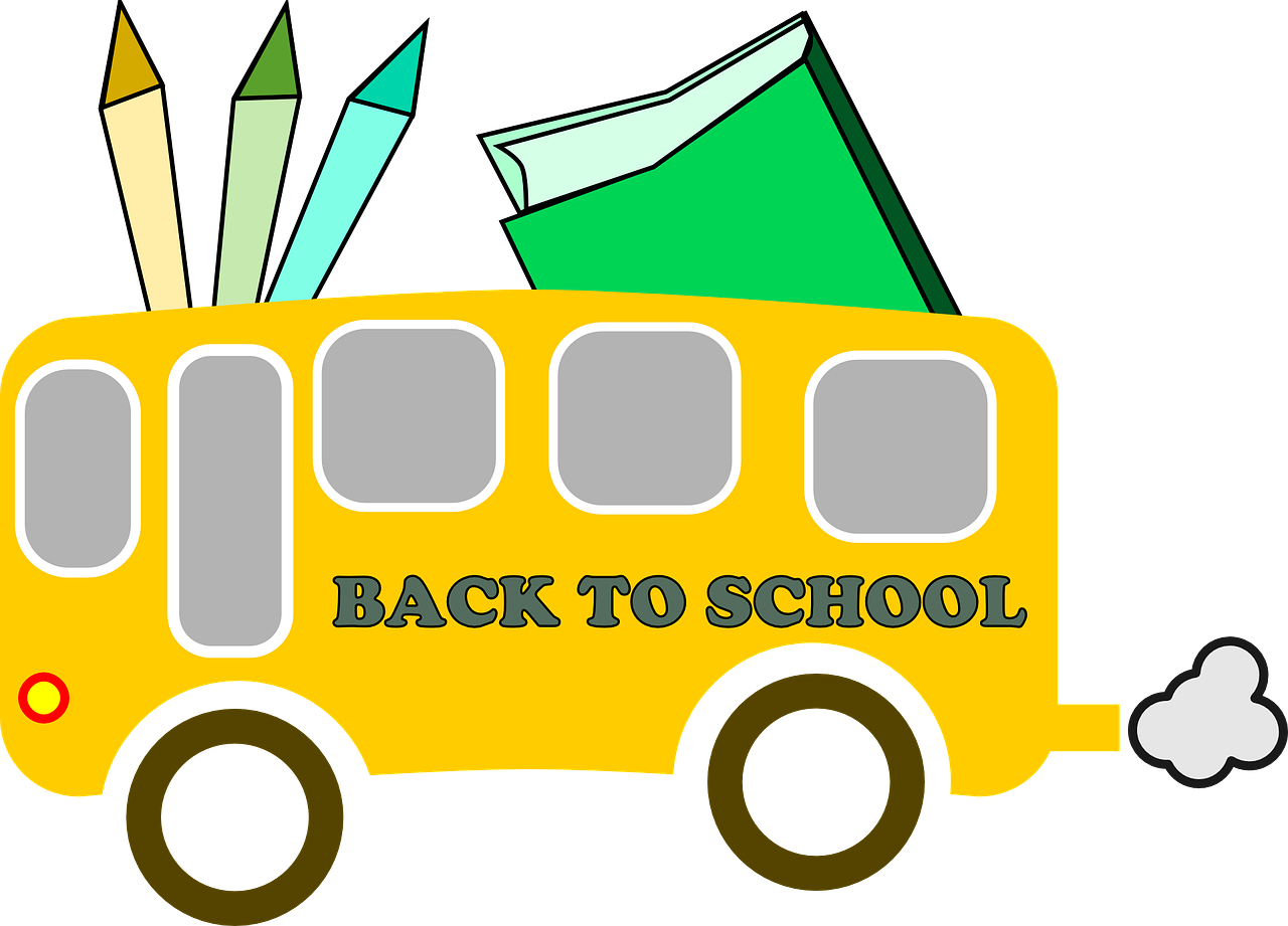 School bus border clipart vector stock School Supplies Background Png. School Supplies Background Png With ... vector stock
