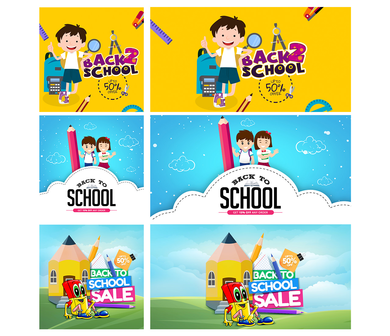 Back to school social clipart