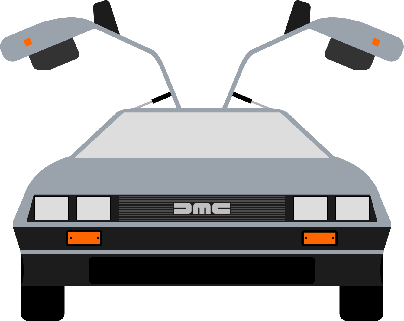 Ghostbusters car clipart clip black and white library Delorean clip art that i made : BacktotheFuture clip black and white library