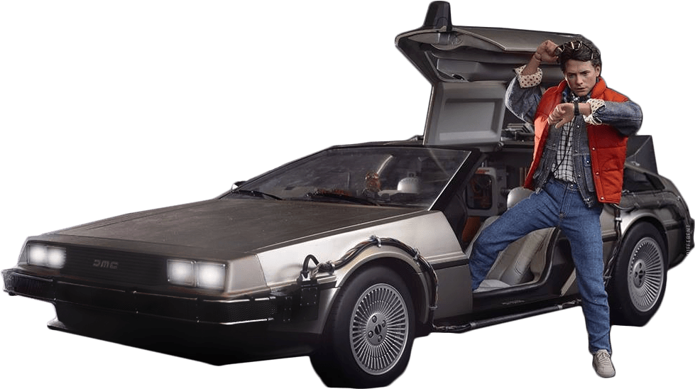 Back to the future car clipart vector freeuse stock Delorean Marty Back To The Future transparent PNG - StickPNG vector freeuse stock
