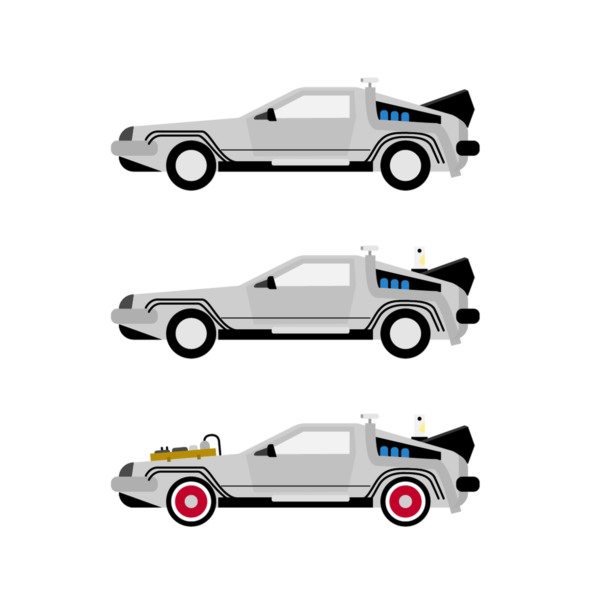 Back to the future car clipart image download Delorean - Back to the Future Trilogy on Behance image download