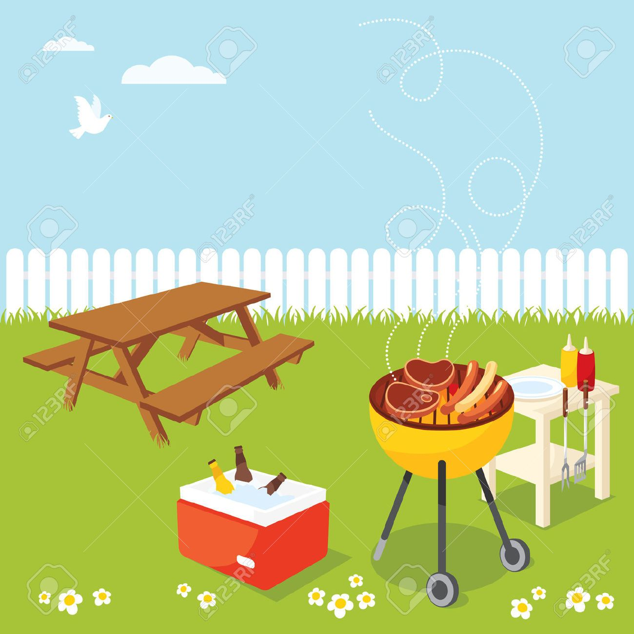 Backyard bbq party clipart 7 » Clipart Portal png black and white library