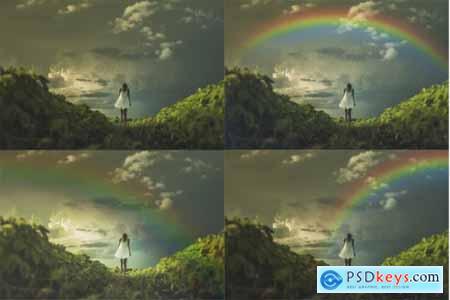 Backdrop clipart transparent stock Rainbow Overlay for Photoshop Rainbow Backdrop Photo Clipart PSD ... transparent stock