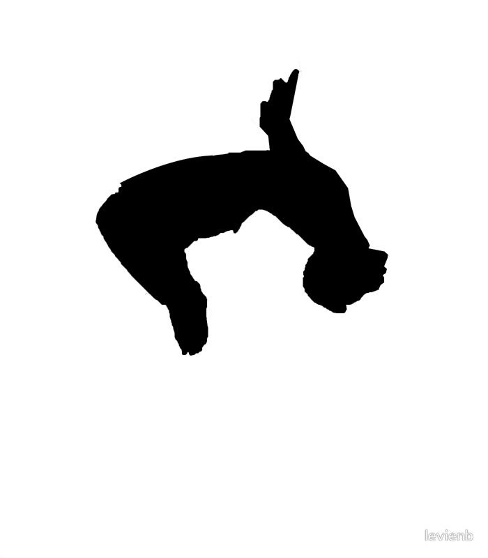 Backflip clipart svg free stock parkour backflip\' Poster by levienb | Gage in 2019 | Parkour ... svg free stock