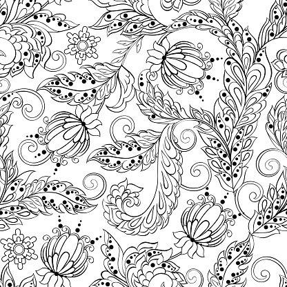 Background batik clipart clip library stock Vintage Pattern IN Indian Batik Floral Vector Background premium ... clip library stock
