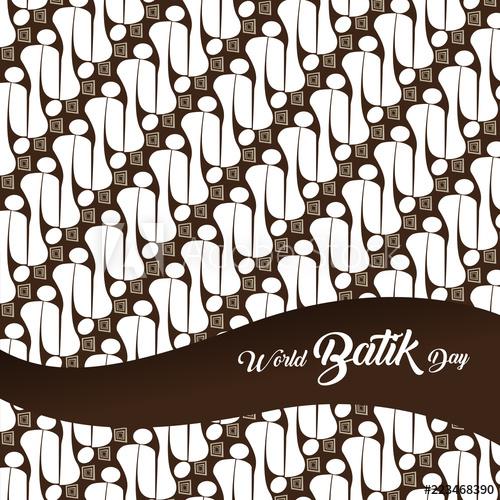 Background batik clipart clipart black and white stock World Batik Day Background Concept - Buy this stock vector and ... clipart black and white stock