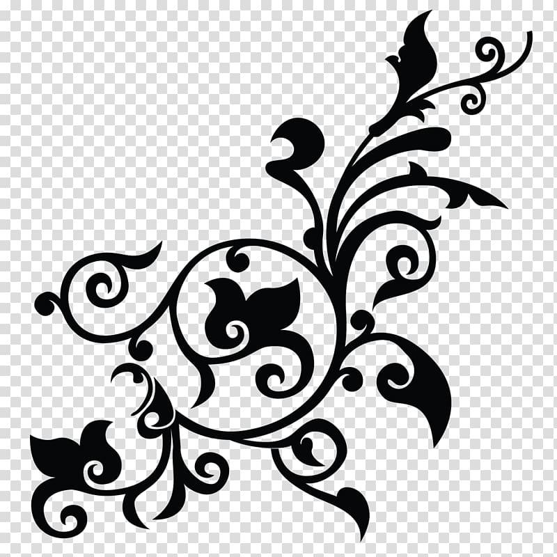 Blue background with black leaf illustration, Flower Pattern, Gambar ... svg royalty free library