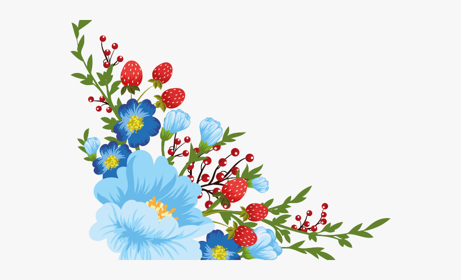 Dots Clipart Stitched Flower - Flower Decoupage Gambar Background ... banner free