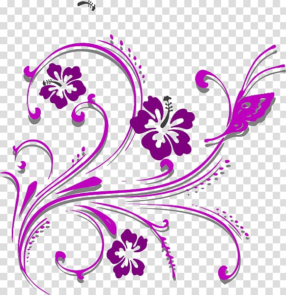 Purple and pink flower illustration, Butterfly Purple , BUNGA ... clip library download