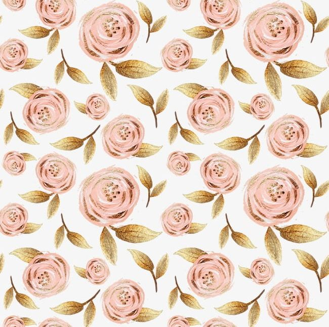 Gold Foil Pull Paint Flowers Free Background PNG, Clipart ... jpg black and white library