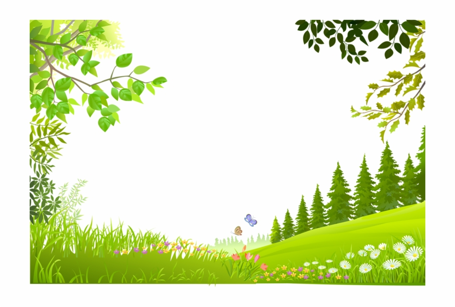 Clipart tree background graphic freeuse Plants Nature Material Trees Green Grass Cartoon Clipart - Green ... graphic freeuse