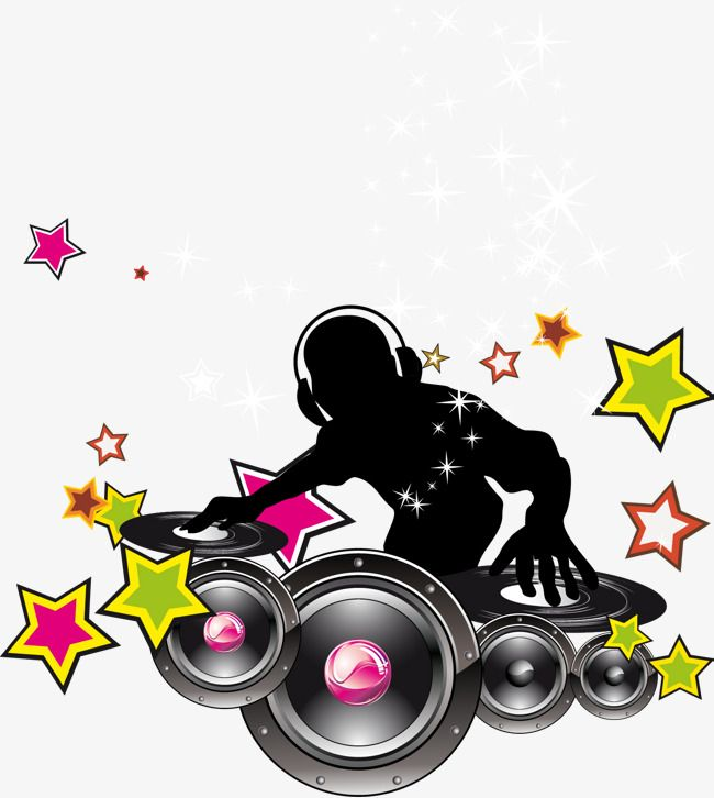 Background logo dj clipart vector free download Dj Vector With Headset, With A Headset, Dj Vector, Music PNG and ... vector free download