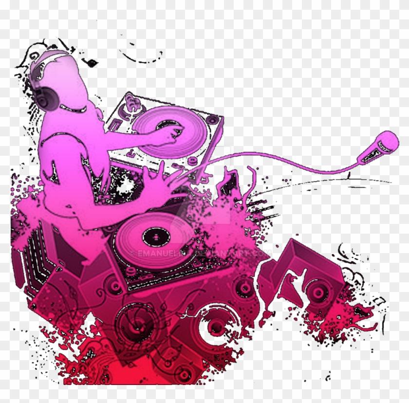 Background logo dj clipart