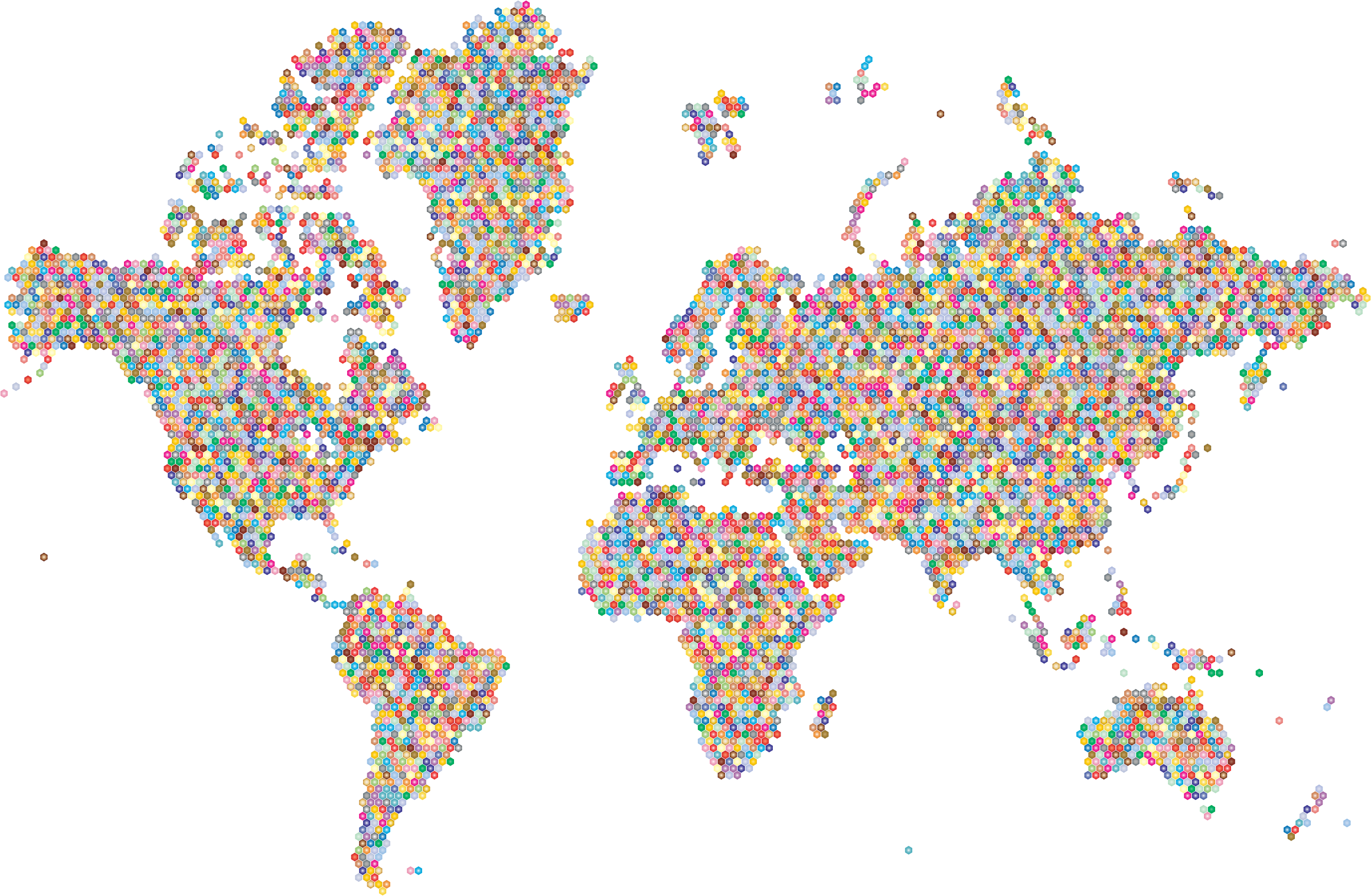 Background map clipart transparent download HD Maps Clipart Clipart Transparent Background - Colorful World Map ... transparent download