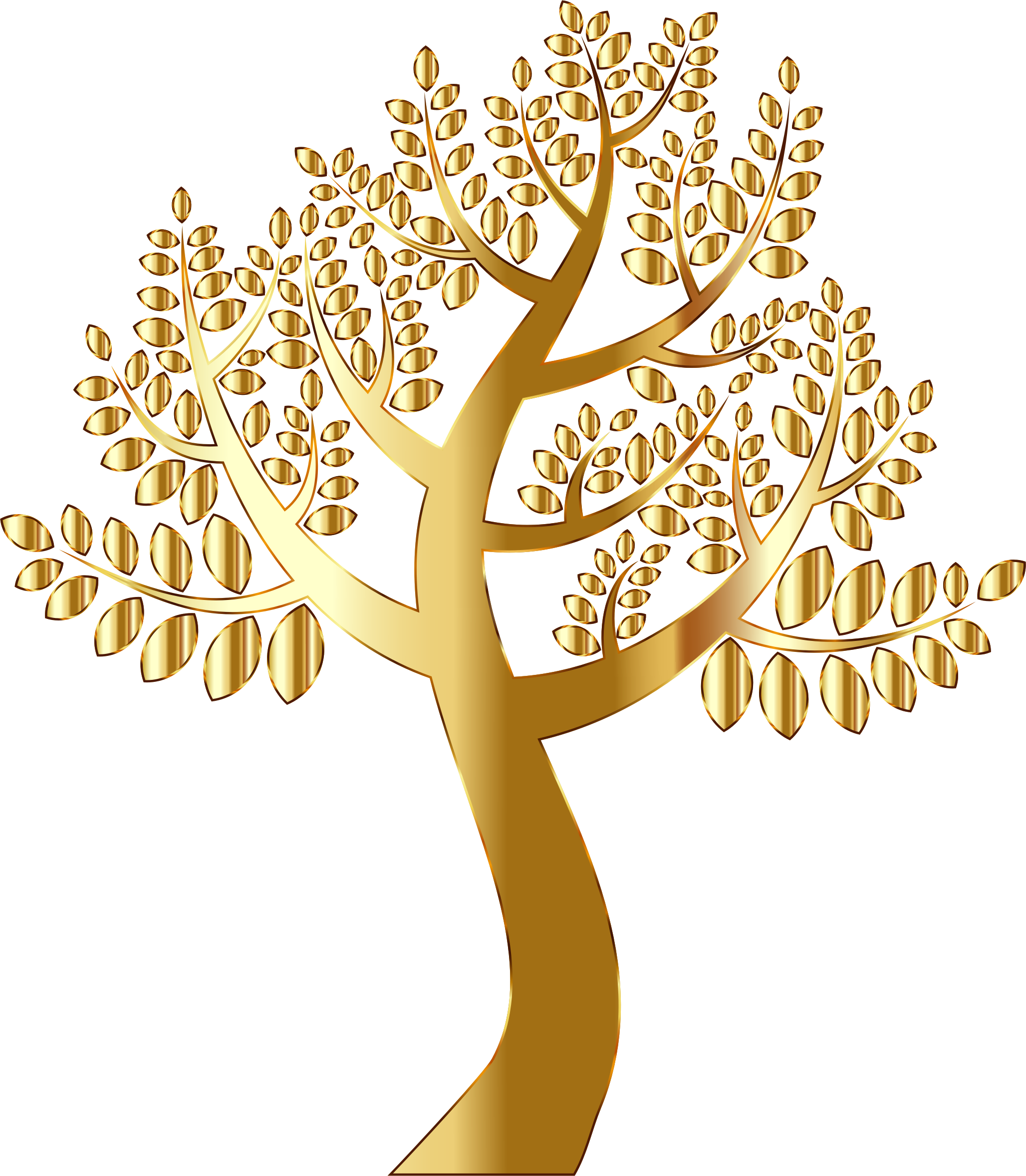Tree clipart background vector freeuse library Clipart - Simple Gold Tree Without Background vector freeuse library