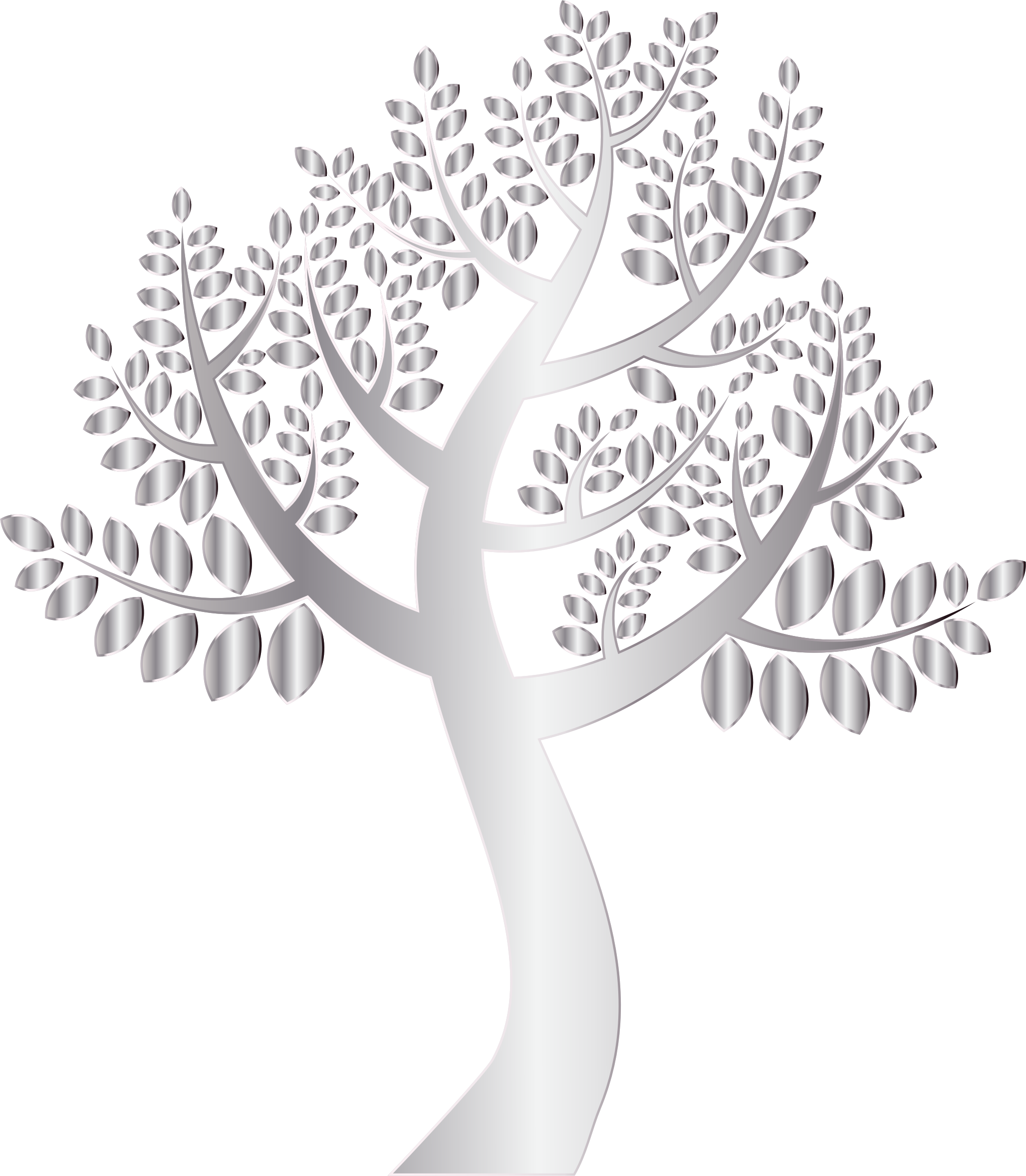 Tree clipart background png library library Clipart - Simple Silver Tree Without Background png library library