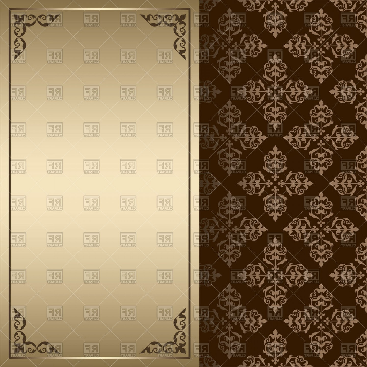 Background vintage clipart graphic library download Dark Brown And Gold Vintage Background Vector Clipart | Savoyuptown graphic library download