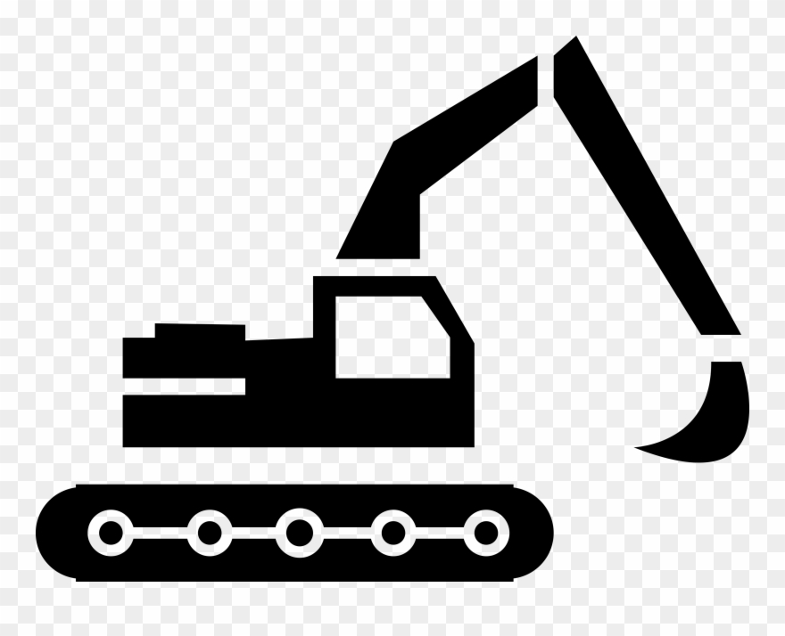 Backhoe clipart black and white jpg freeuse Banner Library Backhoe Clipart Engineering Equipment - Construccion ... jpg freeuse
