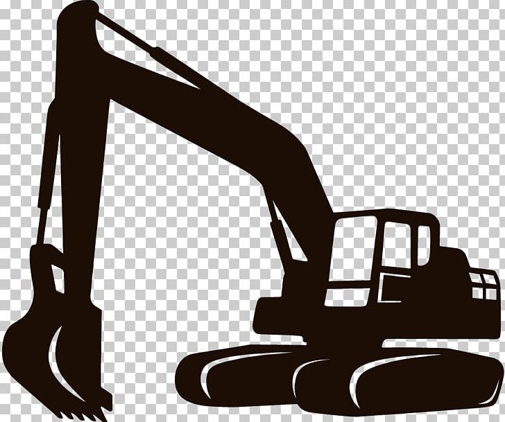 Backhoe clipart black and white picture library Heavy Machinery Excavator Architectural Engineering Backhoe PNG ... picture library