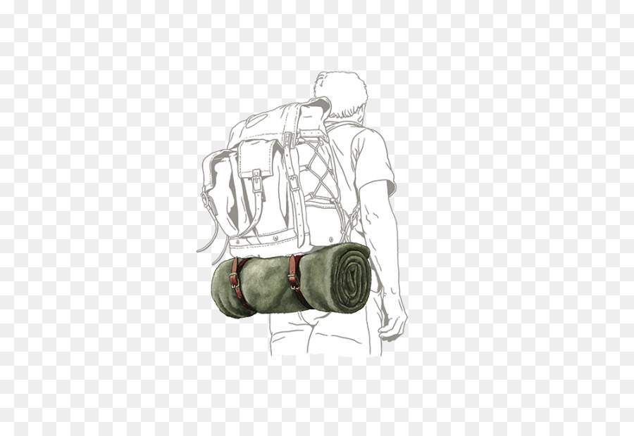 Backpack and bedroll clipart svg freeuse stock Travel Hiking svg freeuse stock