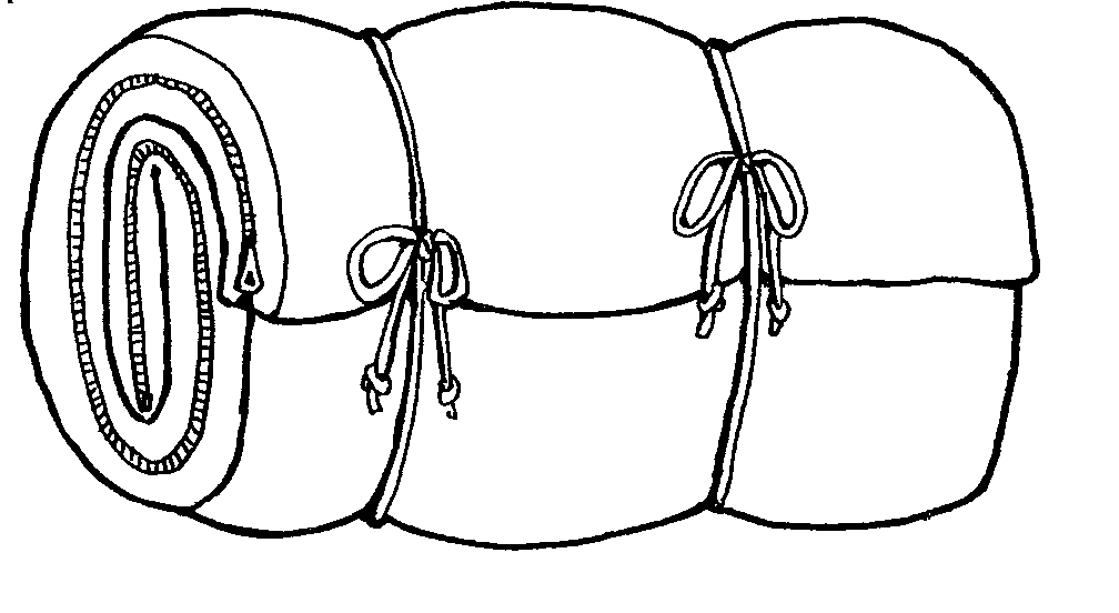 Backpack and bedroll clipart clipart library Sleeping Bag Clip Art - Cliparts.co clipart library
