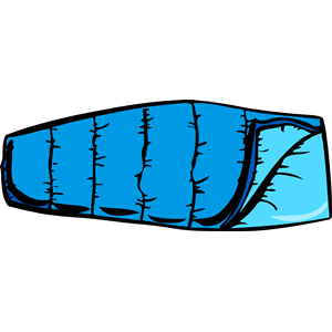 Backpack and bedroll clipart picture royalty free Blue sleeping bag clipart cliparts of free - ClipartBarn picture royalty free