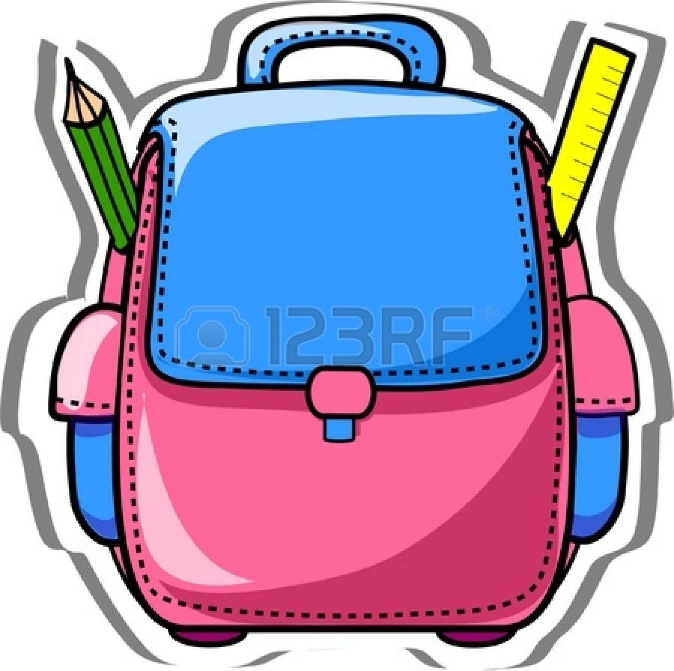 Backpack and materials school clipart clipart School Backpack Clipart | Free download best School Backpack Clipart ... clipart