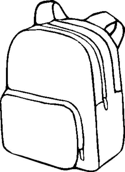 Kids school end of year clipart black and white svg black and white Backpack clipart 5 | Planning and Printables | School coloring pages ... svg black and white