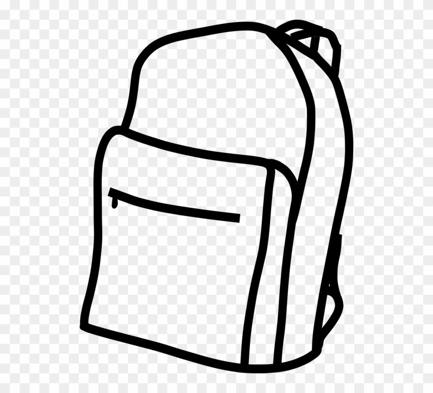 Backpackk black and white clipart svg stock Pictures Of Backpacks 27, Buy Clip Art - Back Pack Black And White ... svg stock