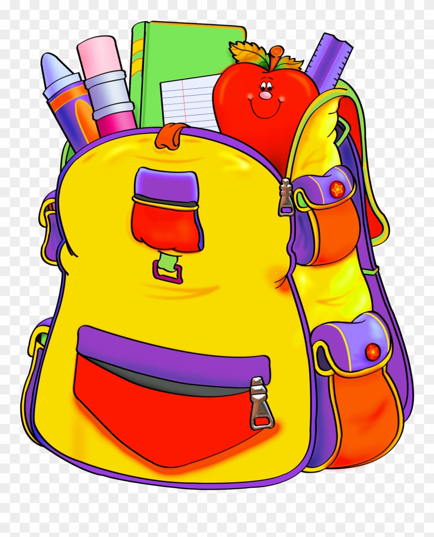 Backpack Clipart Empty Backpack - Transparent School Supplies ... clip black and white stock