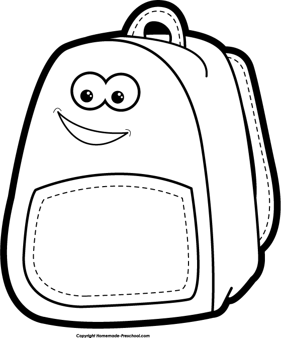 Backpack black and white clipart clipart kid - Cliparting.com jpg black and white download