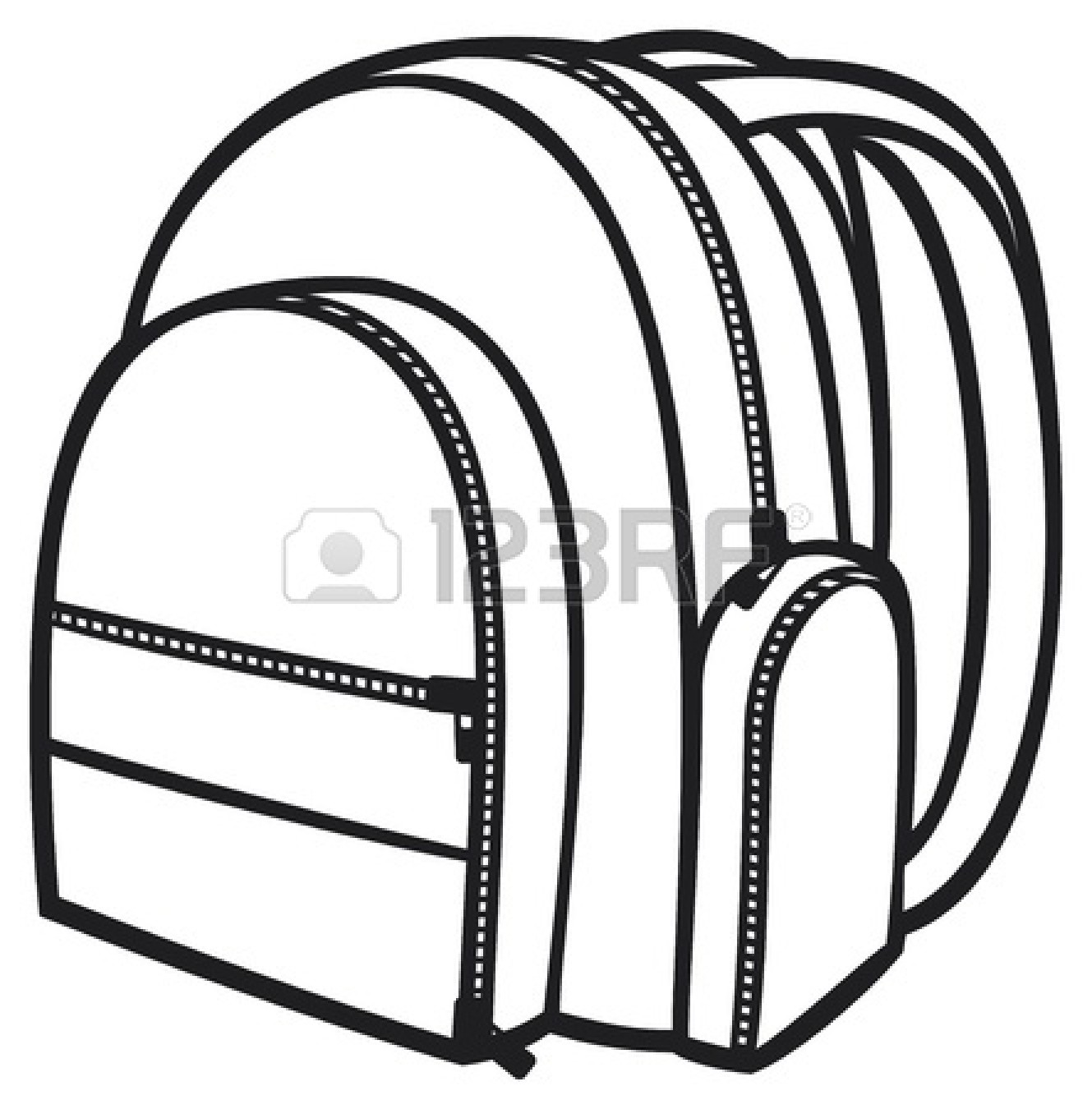 Backpack Clipart Outline - Free Clipart vector freeuse library