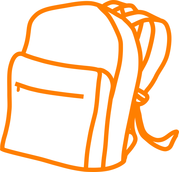 Backpack with money clipart svg transparent library Bag Pac Orange Clip Art at Clker.com - vector clip art online ... svg transparent library