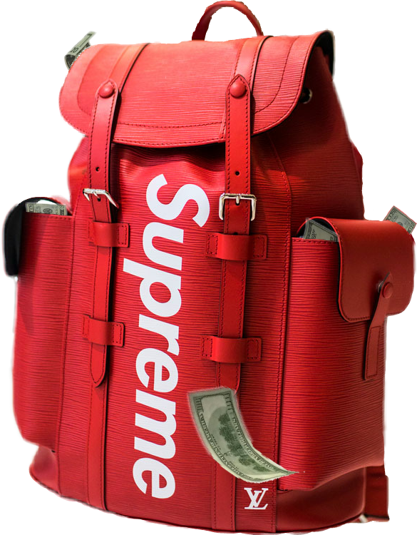 Backpack with money clipart clipart library stock money supreme backpack bag louisvuitton vuitton gucciba... clipart library stock