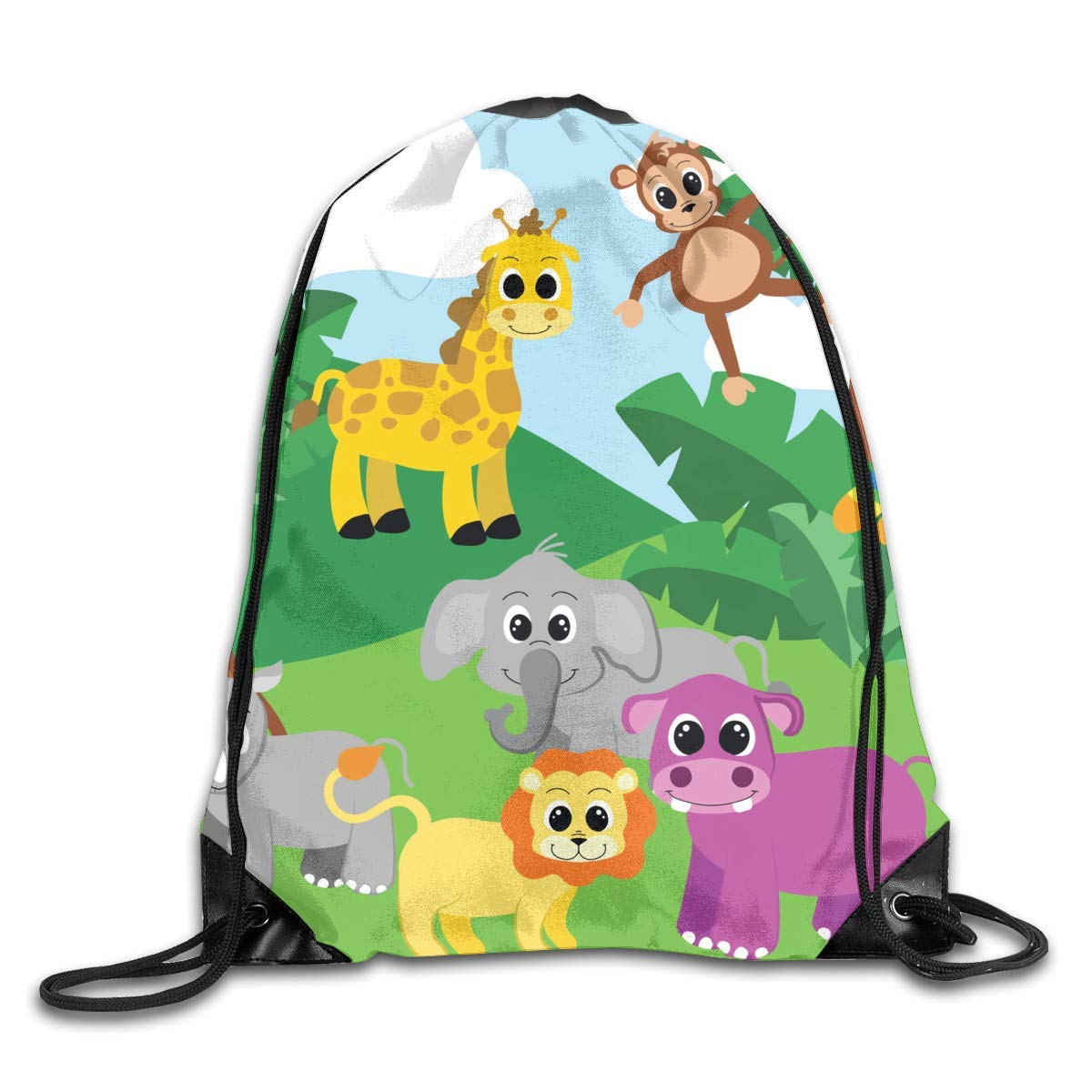 Backpack with tent clipart clipart freeuse stock Amazon.com | Andrea Back Drawstring Backpack Bag Jungle Clip Art ... clipart freeuse stock