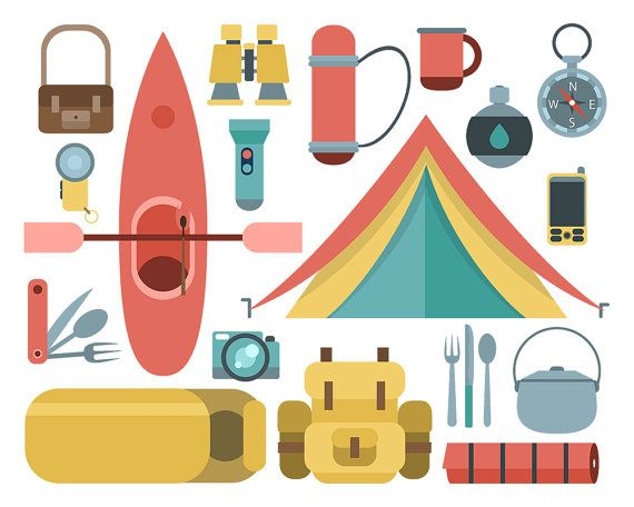 Backpack with tent clipart vector library library Camping Clipart Camp Equipment Tent Canoe Backpack by ClipArtKiwi ... vector library library
