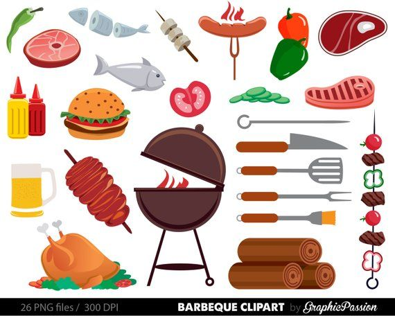Backpacking food clipart clip transparent download BBQ Clipart, Cookout Clipart, Barbeque Clipart, Party Food Clipart ... clip transparent download