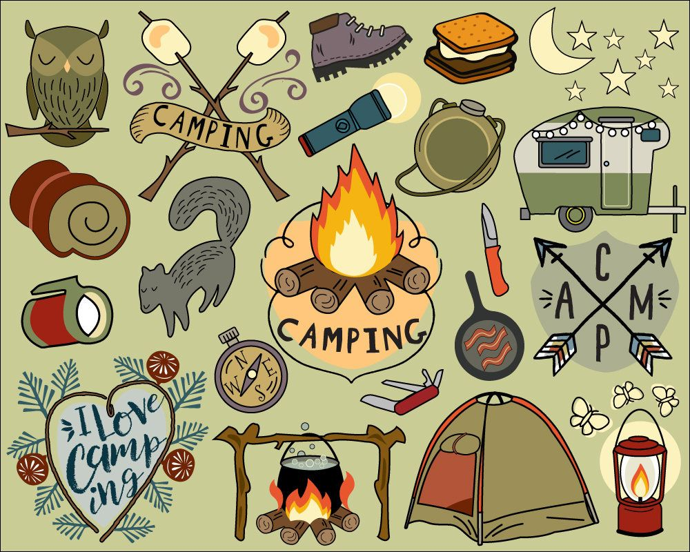 Backpacking food clipart image free download Camping Clipart, summer clipart, bullet journal stickers, vacation ... image free download