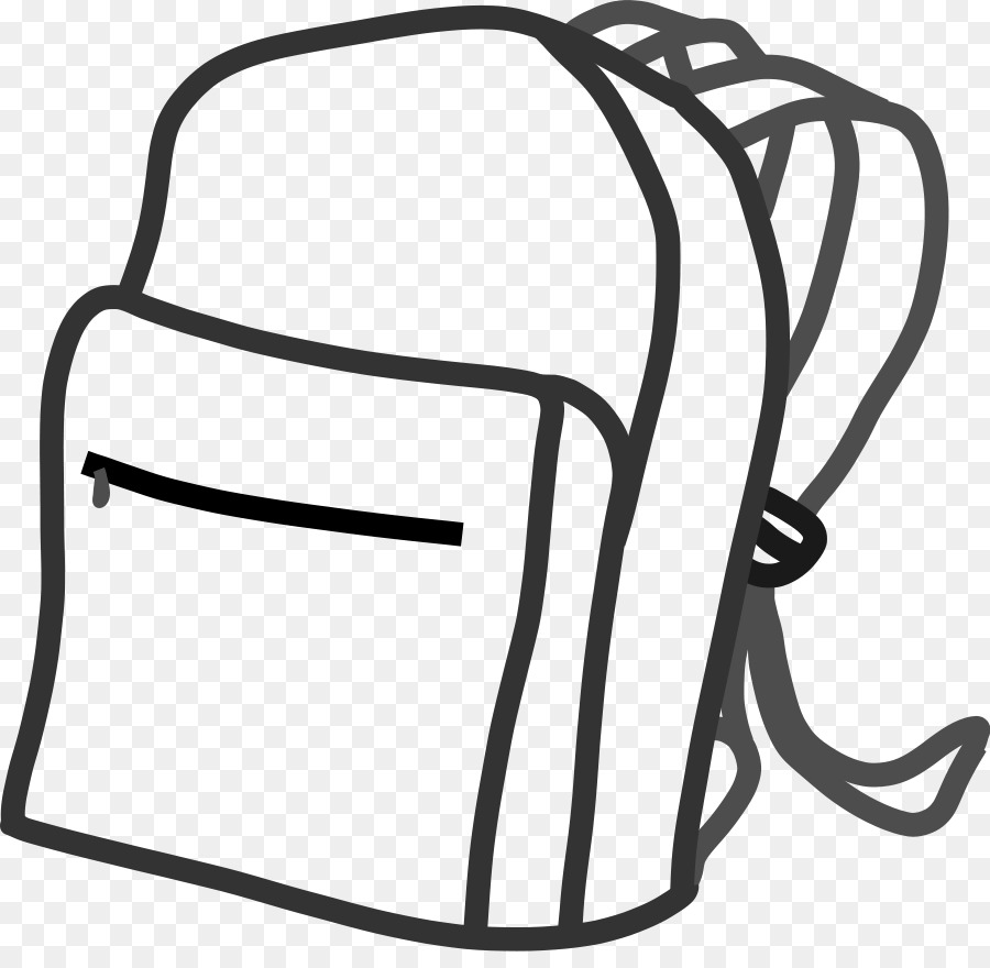 Backpackk black and white clipart clip download Black Line Background png download - 900*865 - Free Transparent Bag ... clip download