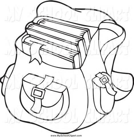 Backpackk black and white clipart vector freeuse library Book Bag Black And White Clipart - Clipart Kid | Teacher Stuff ... vector freeuse library