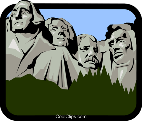Backside of mount rushmore clipart banner free Mount Rushmore Royalty Free Vector Clip Art illustration -arch0240 ... banner free
