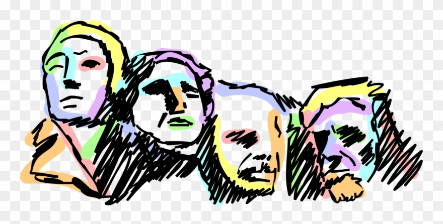 Backside of mount rushmore clipart picture download Vector Illustration Of Mount Rushmore National Memorial - Mount ... picture download