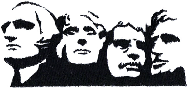 Backside of mount rushmore clipart clipart freeuse Heads Embroidery Design: Mount Rushmore Outline From Grand - Free ... clipart freeuse