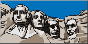 Backside of mount rushmore clipart picture royalty free library Clip Art: Mt. Rushmore Color I abcteach.com | abcteach picture royalty free library