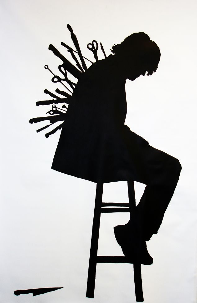 Backstabber clipart picture black and white This image represents the tragedy and extremely apparent theme of ... picture black and white