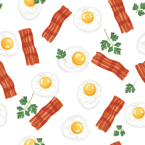 Bacon and eggs border clipart clip art transparent library Let\'s Eat, White - Breakfast, Bacon & Eggs wallpaper - diane555 ... clip art transparent library